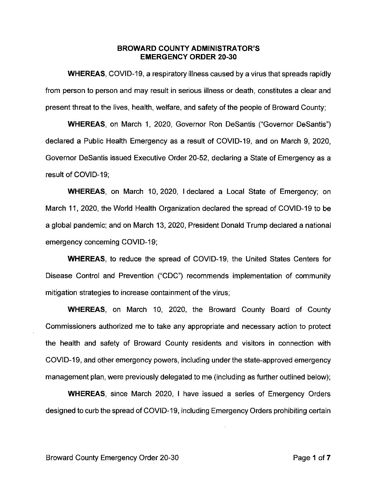 COVID 19 - Broward County Emergency Order 20-30 - Countywide Curfew - 12-25-20.pdf