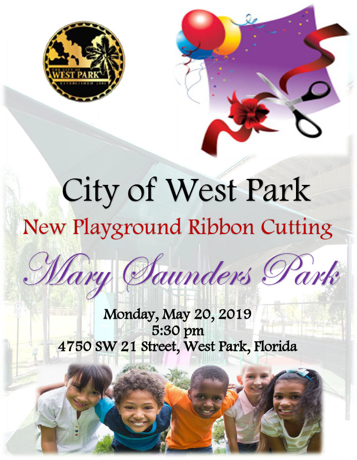Mary Saunders Park - New Playground Ribbon Cutting