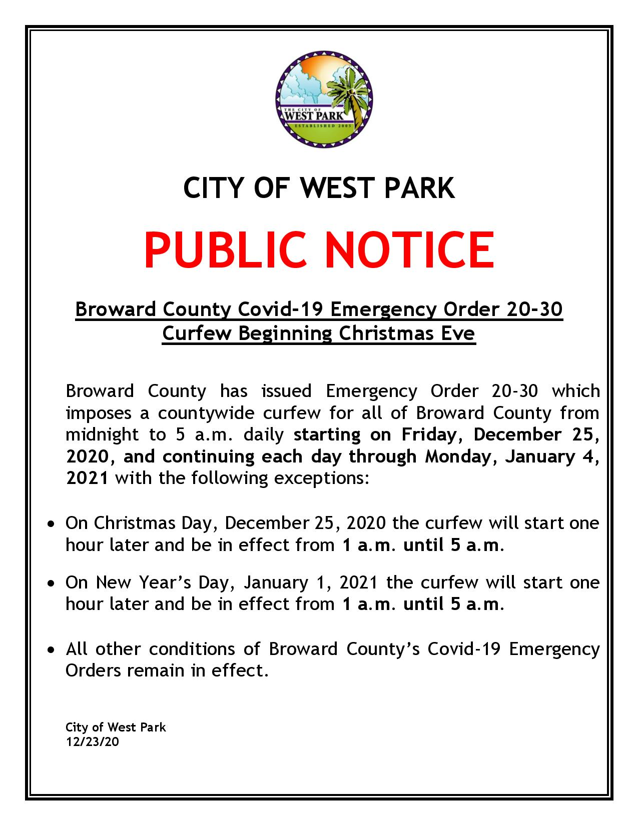 PUBLIC NOTICE - BROWARD COUNTY CURFEW - CHRISTMAS EVE - 12-23-20.pdf