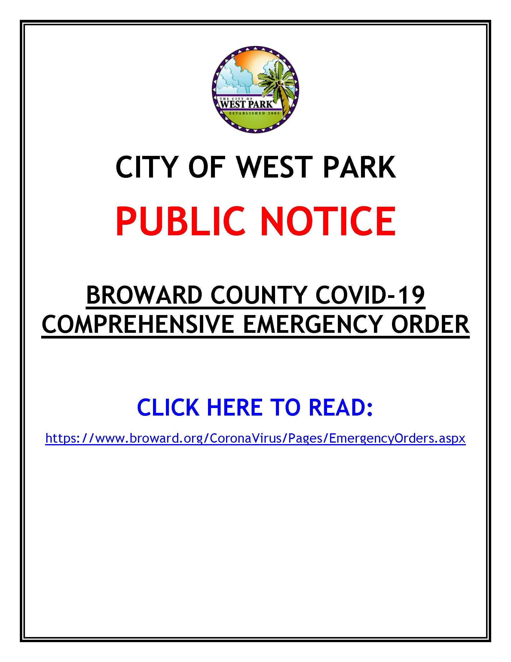 PUBLIC NOTICE - BROWARD COUNTY EMERGENCY ORDER - 12-29-20.pdf