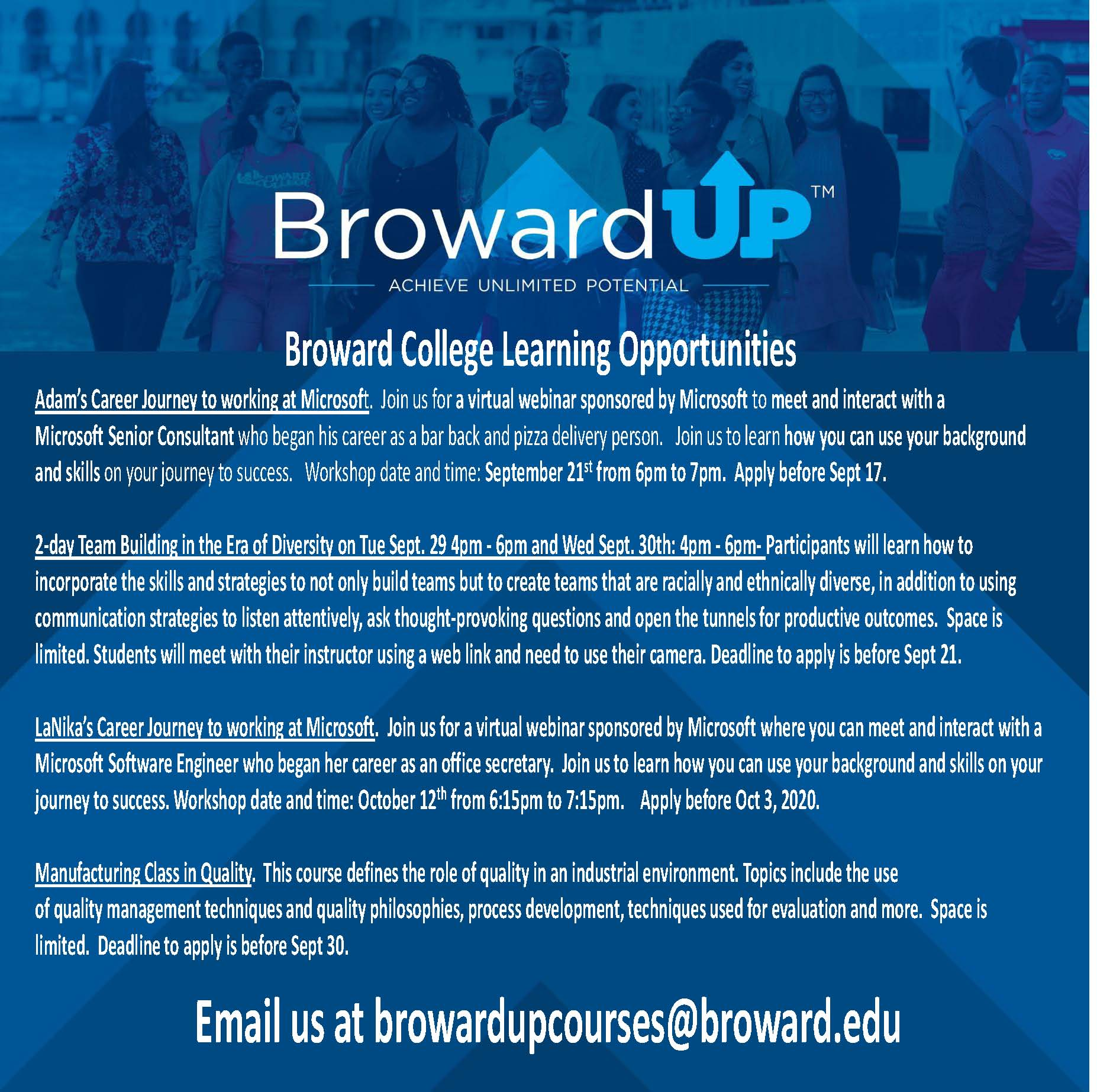 Broward College Online Programs - Fall 2020